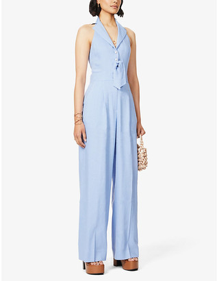 Temperley London Sophia sleeveless linen-blend jumpsuit