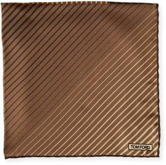Tom Ford Men's Striped Cotton Pocket Square
