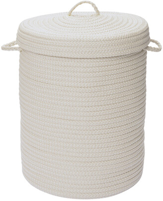 Colonial Mills Simply Home Solid White Hamper With Lid
