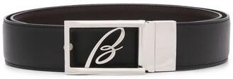 Brioni Monogram Buckle Belt