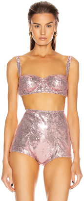 Dolce & Gabbana Bralette Top in Light Powder Rose | FWRD