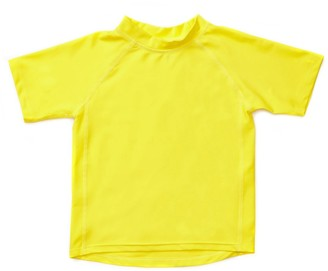 Leveret Short Sleeve UPF +50 Rash Guard - Yellow (Baby Boy)