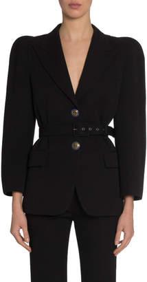 Givenchy Peak Shoulder Enamel Button Blazer