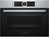 Bosch CBG675BS1B Built-In Compact Combination Oven, Stainless Steel