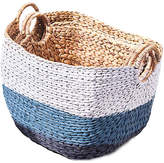 One Kings Lane Asst. of 3 Gerard Handwoven Baskets - Blue/White