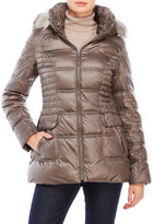 Laundry by Design Quilted Puffer Coat with Faux Fur Trim