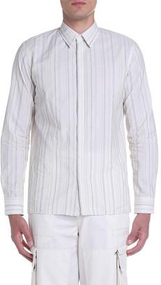 Fendi Men's Dot-Stripe Point-Collar Sport Shirt