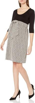 Maternal America Women's Maternity Orig. Scoop Neck Front Tie Dress