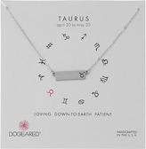 Dogeared Taurus Zodiac Bar Necklace