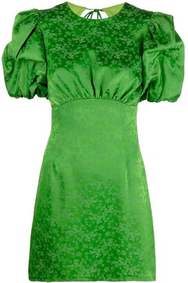 Andamane Gloria puff-sleeve mini dress