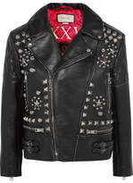 Gucci Studded Leather Biker Jacket - Black