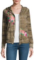 Johnny Was Dorana Embroidered Camo Hoodie, Plus Size