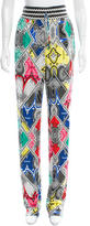Class Roberto Cavalli Printed Contrast Pants w/ Tags