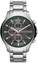 Armani Exchange Ax2163 Chronograph Bracelet Strap Watch, Silver/black