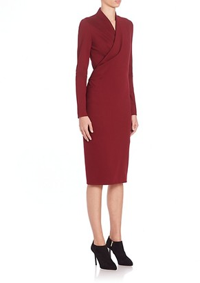Alexander McQueen Fitted Wrap-Front Dress
