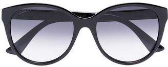 Gucci Round-Frame Gradient Sunglasses