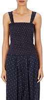 Etoile Isabel Marant Women's Manon Smocked Cotton Top-NAVY