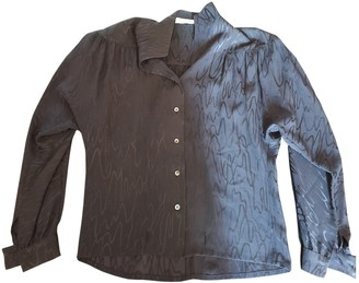 Christian Dior Black Silk Tops