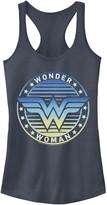 Licensed Character Juniors' DC Comics Wonder Woman Gradient Logo Tank Top