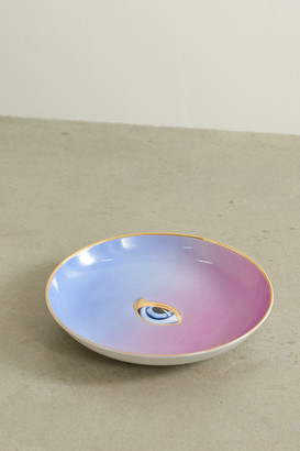 L'OBJET + Lito Gold-plated Porcelain And Resin Plate - Purple