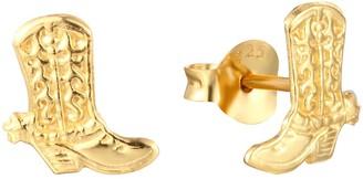 Seol + Gold 18Ct Gold Vermeil Cowboy Boot Studs