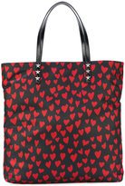 RED Valentino heart print tote - women - Leather/Nylon - One Size