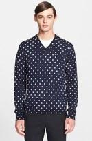 Comme des Garcons Dot Pattern V-Neck Sweater