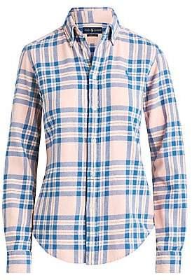 Polo Ralph Lauren Women's Long Sleeve Plaid Shirt