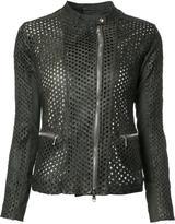 Giorgio Brato perforated detail jacket - women - Leather - 42
