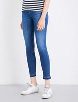Hudson Barbara released-hem skinny high-rise jeans
