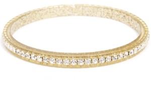 Zenzii Gold-Tone Crystal-Embellished Colored Bangle Bracelet