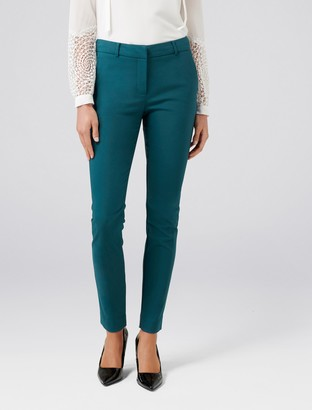 Forever New Faye Full Length Slim Pants - Teal - 16