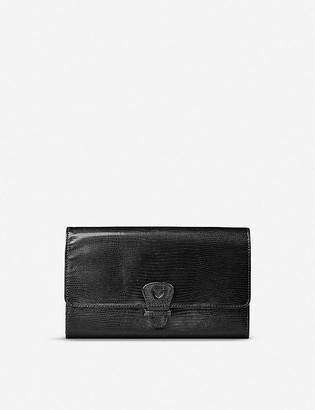 Aspinal of London Classic compartmented leather travel wallet