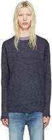 Nonnative Navy Linen Clerk Sweater