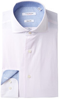 Isaac Mizrahi Mini Check Slim Fit Dress Shirt