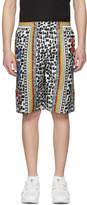 Dolce & Gabbana Multicolor Printed Brush Stroke Shorts