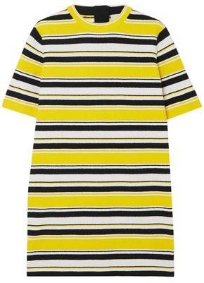 Marc Jacobs Striped Cotton-blend Terry Mini Dress