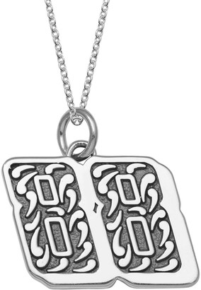 """Insignia Collection NASCAR Dale Earnhardt Jr. """"88"""" Stainless Steel Pendant Necklace"""
