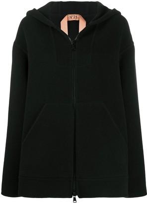 No.21 Hooded Zip-Up Coat