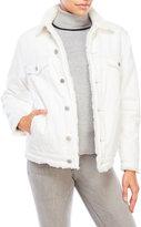Earnest Sewn Faux Fur-Lined Denim Jacket