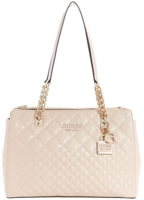 GUESS SG766609NUD Queenie Double Handle Shoulder Bag