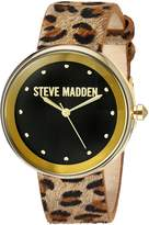 Steve Madden Women's Quartz Gold-Tone Casual WatchMulti Color (Model: SMW044G-M1)