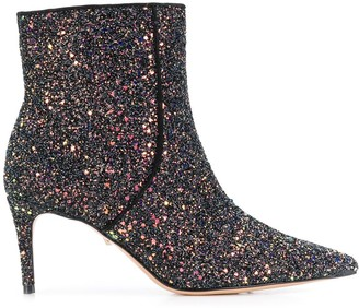 Schutz Sequin Ankle Booties