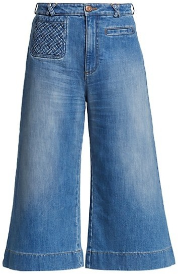 See by Chloe Signature Braided Denim Trousers