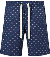 John Lewis Bicycle Print Lounge Shorts, Blue