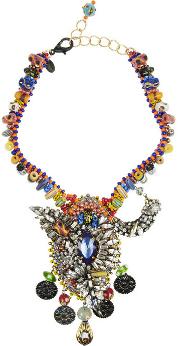Erickson Beamon Fashion Tribe gold-plated Swarovski crystal necklace
