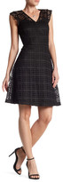 Nine West Fit & Flare Dotted Lace Dress
