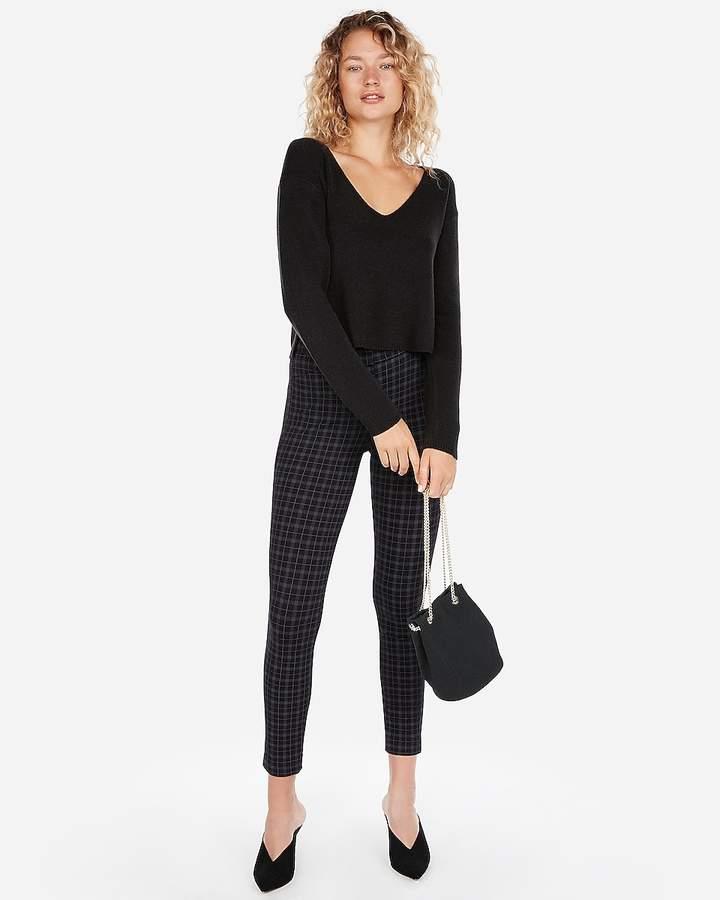 Abbreviated V-Neck Sweater