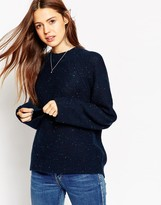 Asos Sweater with Wide Sleeves and Ripple Stitch in Nep Yarn