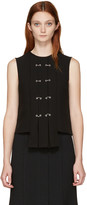 J.W.Anderson Black Rings & Eyelet Pleated Top